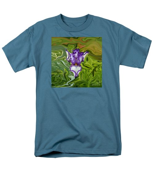 Men's T-Shirt  (Regular Fit) featuring the photograph Groovy Purple Iris by Rebecca Margraf