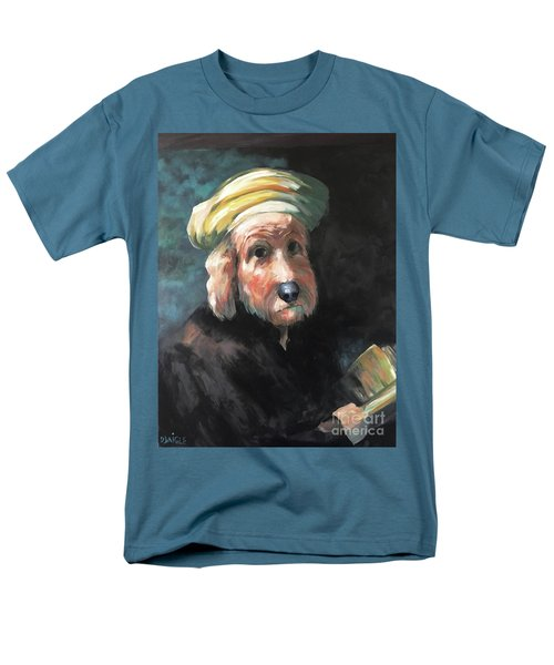 Men's T-Shirt  (Regular Fit) featuring the painting Gunther's Self Portrait by Diane Daigle