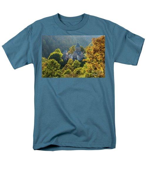 Haghartsin Monastery With Trees In Front At Autumn, Armenia Men's T-Shirt  (Regular Fit) by Gurgen Bakhshetsyan