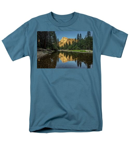 Half Dome From  The Merced Men's T-Shirt  (Regular Fit) by Peter Tellone