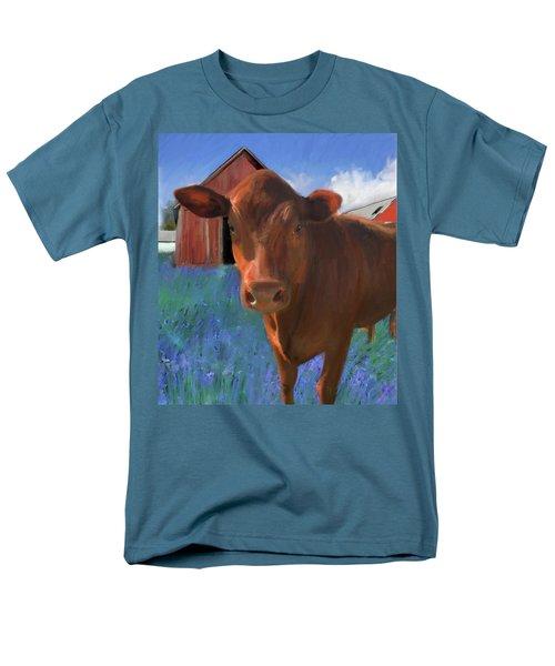 Happy Cow West Marin  Men's T-Shirt  (Regular Fit) by Julianne Ososke