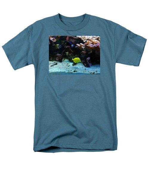 Happy Fish At Panda Garden Restaurant Men's T-Shirt  (Regular Fit)
