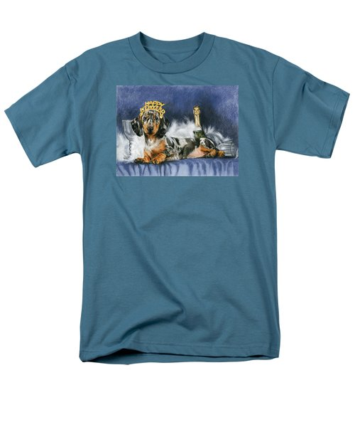 Men's T-Shirt  (Regular Fit) featuring the mixed media Happy New Year by Barbara Keith