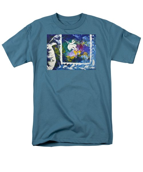 Happy To Be Inside Men's T-Shirt  (Regular Fit) by Lynda Cookson