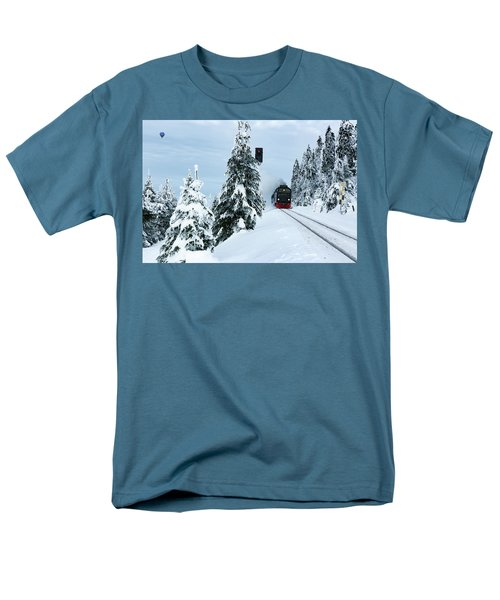 Harz Ballooning And Brocken Railway Men's T-Shirt  (Regular Fit) by Andreas Levi