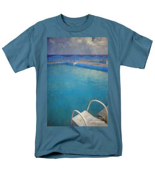 Men's T-Shirt  (Regular Fit) featuring the photograph Havana Cuba Swimming Pool And Ocean by David Zanzinger