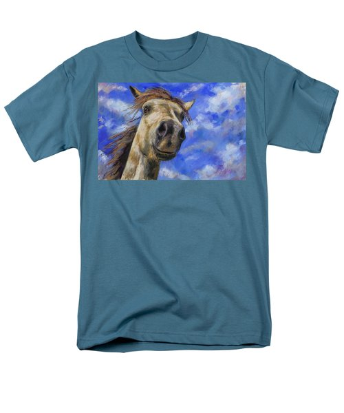 Men's T-Shirt  (Regular Fit) featuring the pastel Head In The Clouds by Billie Colson