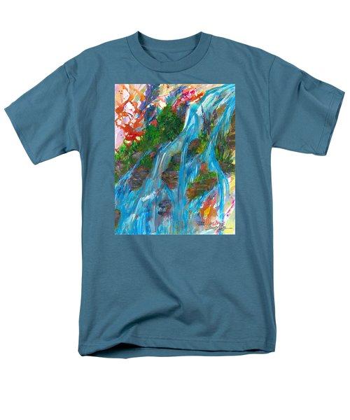 Healing Waters Men's T-Shirt  (Regular Fit) by Denise Hoag