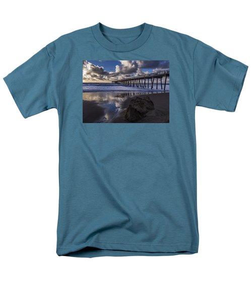 Hermosa Beach Pier Men's T-Shirt  (Regular Fit) by Ed Clark
