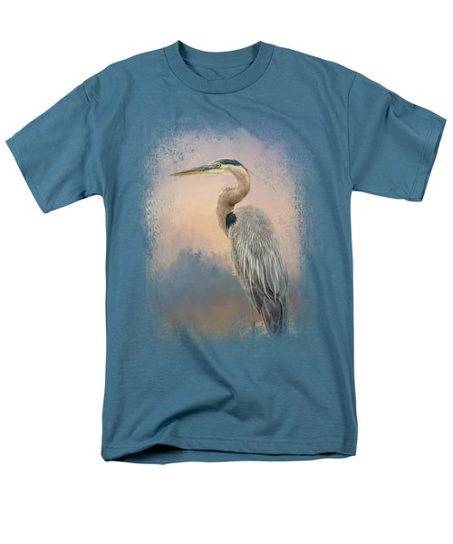 Heron On The Rocks Men's T-Shirt  (Regular Fit)
