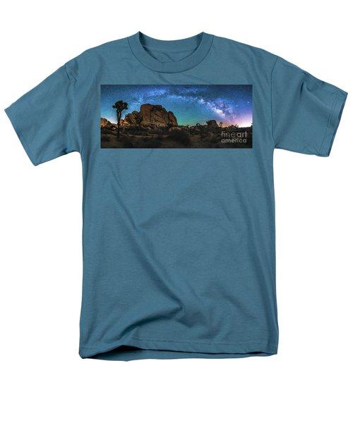 Hidden Valley Milky Way Panorama Men's T-Shirt  (Regular Fit) by Robert Loe