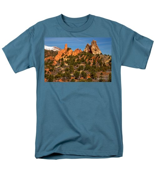 Men's T-Shirt  (Regular Fit) featuring the photograph High Point Rock Towers by Adam Jewell
