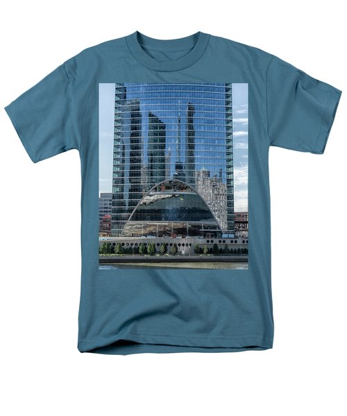 Men's T-Shirt  (Regular Fit) featuring the photograph High Rise Reflections by Alan Toepfer
