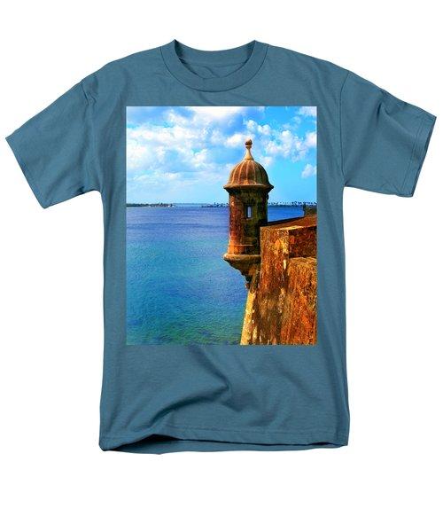 Historic San Juan Fort Men's T-Shirt  (Regular Fit) by Perry Webster