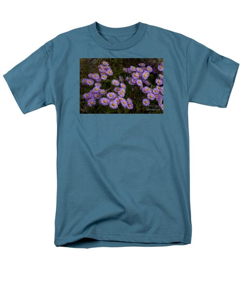 Men's T-Shirt  (Regular Fit) featuring the photograph Hoary Tansyaster-signed-#9698 by J L Woody Wooden