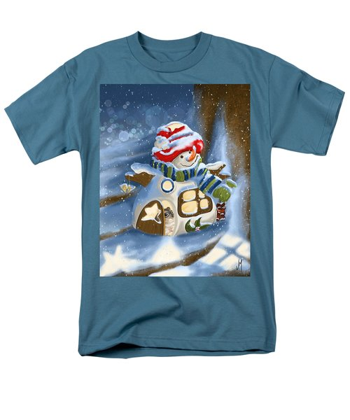Men's T-Shirt  (Regular Fit) featuring the painting Home Sweet Home by Veronica Minozzi