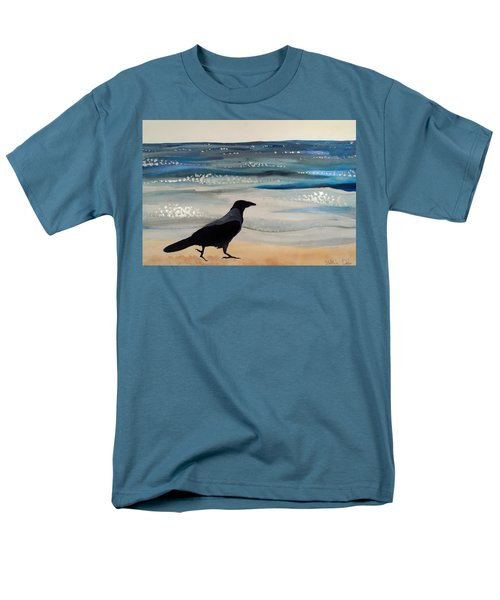 Hooded Crow At The Black Sea By Dora Hathazi Mendes Men's T-Shirt  (Regular Fit) by Dora Hathazi Mendes