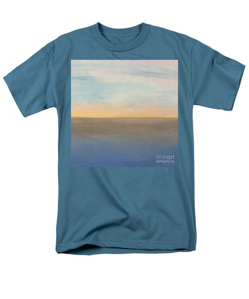 Men's T-Shirt  (Regular Fit) featuring the painting Horizon Aglow by Kim Nelson