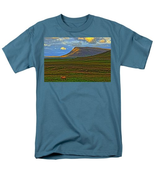 Men's T-Shirt  (Regular Fit) featuring the photograph Horse And Sky by Scott Mahon
