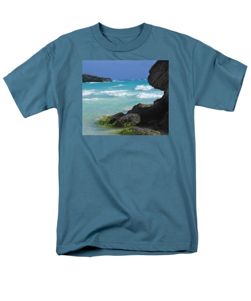 Horseshoe Bay Rocks Men's T-Shirt  (Regular Fit) by Ian  MacDonald