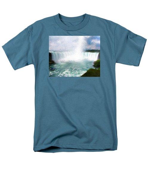 Men's T-Shirt  (Regular Fit) featuring the photograph Horseshoe Falls - Niagara Falls by John Freidenberg