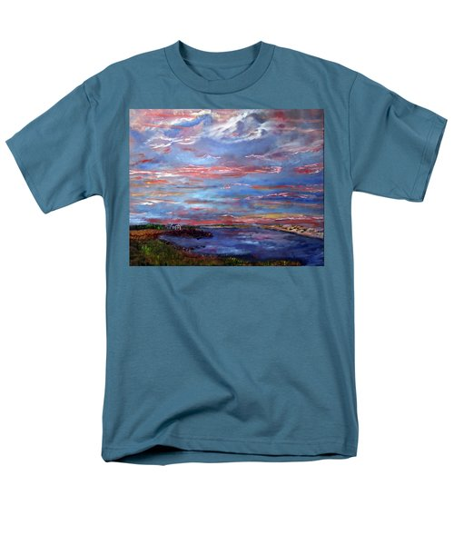 House On The Point Sunset Men's T-Shirt  (Regular Fit) by Michael Helfen