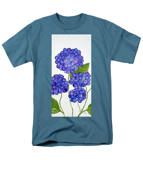Men's T-Shirt  (Regular Fit) featuring the painting Hydrangea by Reina Resto
