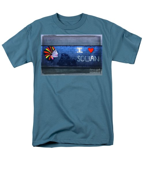 Men's T-Shirt  (Regular Fit) featuring the photograph I Love Squan  by Colleen Kammerer