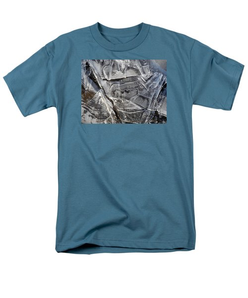 Men's T-Shirt  (Regular Fit) featuring the photograph Ice Abstract by Lynda Lehmann