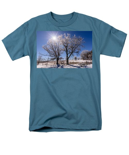 Ice Coated Trees Men's T-Shirt  (Regular Fit) by Randy Scherkenbach