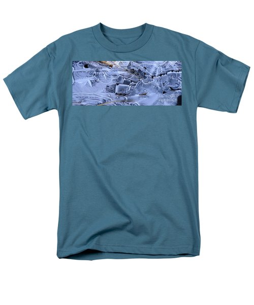 Men's T-Shirt  (Regular Fit) featuring the photograph Ice Crystal Art by Michele Penner