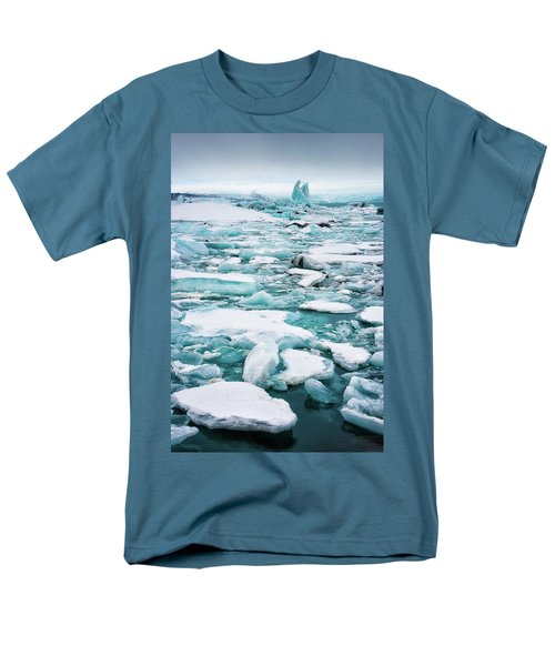 Men's T-Shirt  (Regular Fit) featuring the photograph Ice Galore In The Jokulsarlon Glacier Lagoon Iceland by Matthias Hauser