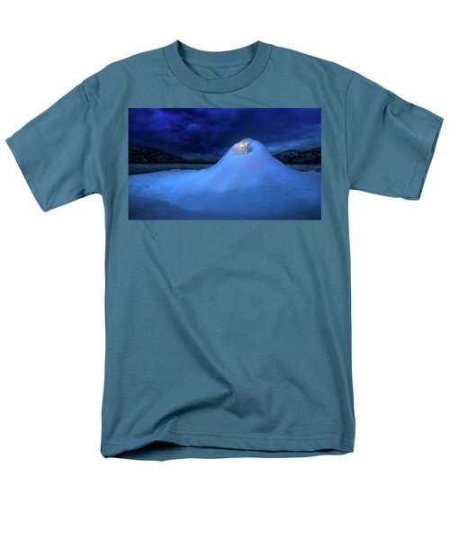 Men's T-Shirt  (Regular Fit) featuring the photograph Ice Volcano by John Poon