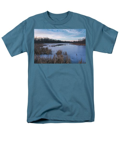 Icy Glazed Wetlands Men's T-Shirt  (Regular Fit) by Angelo Marcialis
