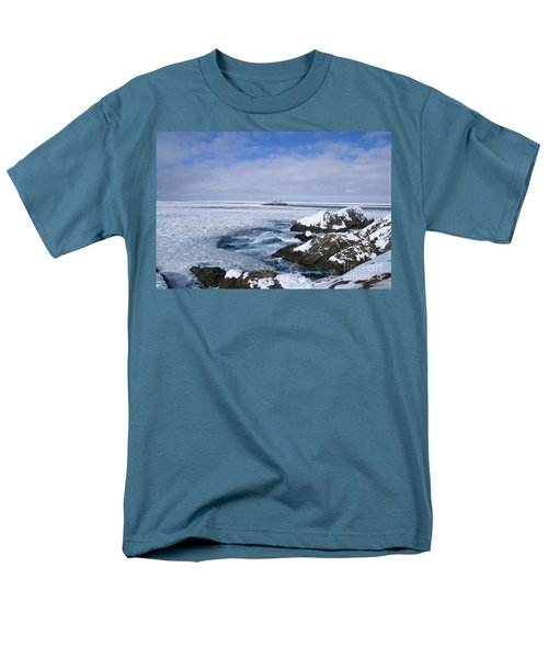 Icy Ocean Slush Men's T-Shirt  (Regular Fit) by Annlynn Ward