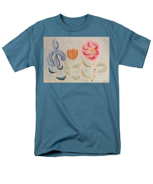 Imagined Flowers Two Men's T-Shirt  (Regular Fit) by Rod Ismay