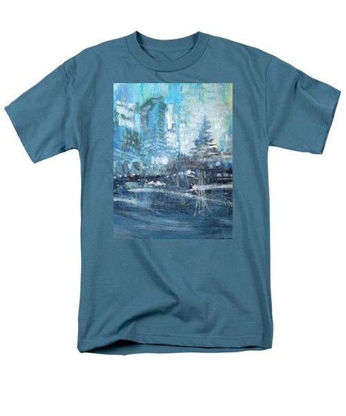 In A Winter Urban Park Men's T-Shirt  (Regular Fit) by John Fish