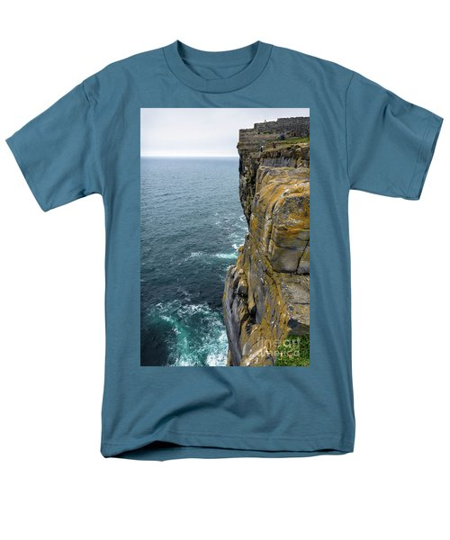 Men's T-Shirt  (Regular Fit) featuring the photograph Inishmore Cliff And Dun Aengus  by RicardMN Photography