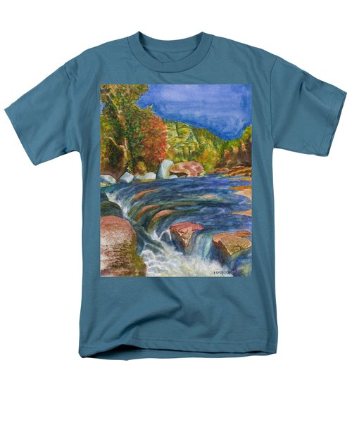 Into Slide Rock Men's T-Shirt  (Regular Fit) by Eric Samuelson