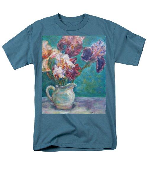 Iris Medley - Original Impressionist Painting Men's T-Shirt  (Regular Fit) by Quin Sweetman