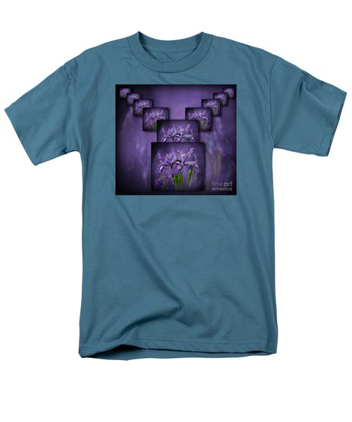Men's T-Shirt  (Regular Fit) featuring the photograph Iris Stack by Shirley Mangini