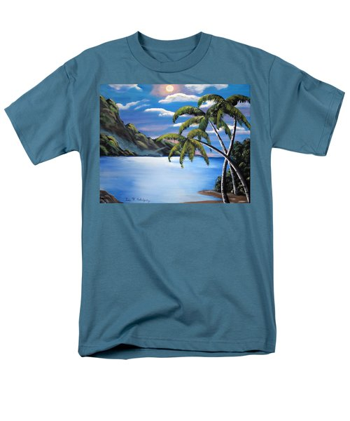 Island Night Glow Men's T-Shirt  (Regular Fit) by Luis F Rodriguez