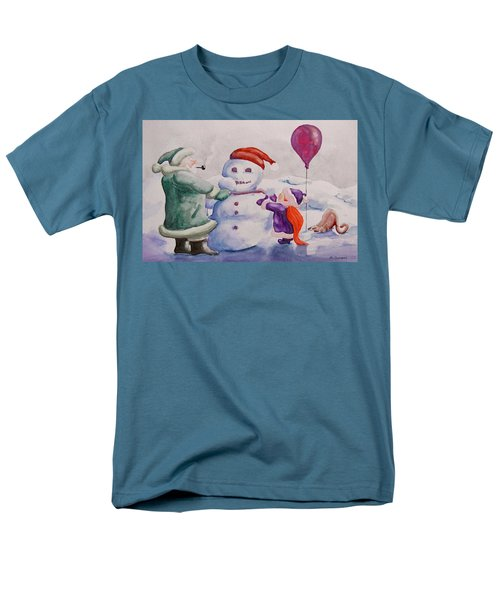 Men's T-Shirt  (Regular Fit) featuring the painting It's Cold Grandpa by Geni Gorani