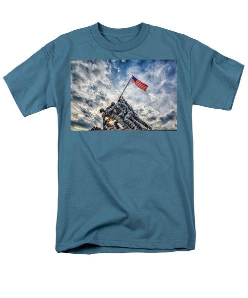 Iwo Jima Memorial Men's T-Shirt  (Regular Fit) by Susan Candelario