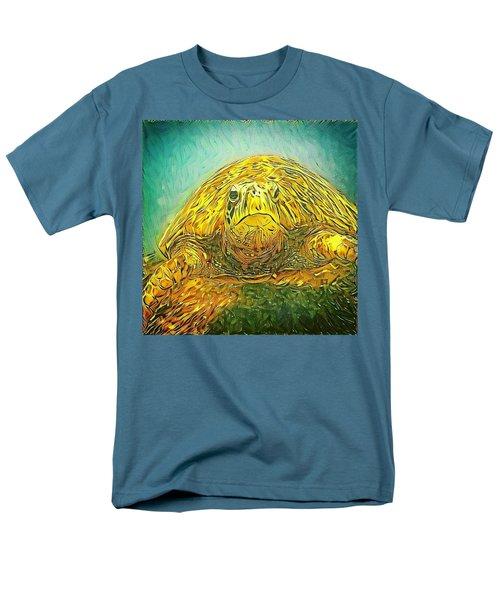 Men's T-Shirt  (Regular Fit) featuring the digital art Jasmine The Turtle by Erika Swartzkopf