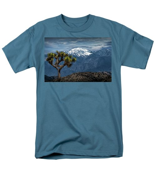 Men's T-Shirt  (Regular Fit) featuring the photograph Joshua Tree At Keys View In Joshua Park National Park by Randall Nyhof