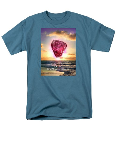 July Birthstone Ruby Men's T-Shirt  (Regular Fit)