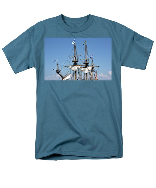 Men's T-Shirt  (Regular Fit) featuring the photograph Kalmar Nyckel - Docked In Lewes Delaware by Brendan Reals
