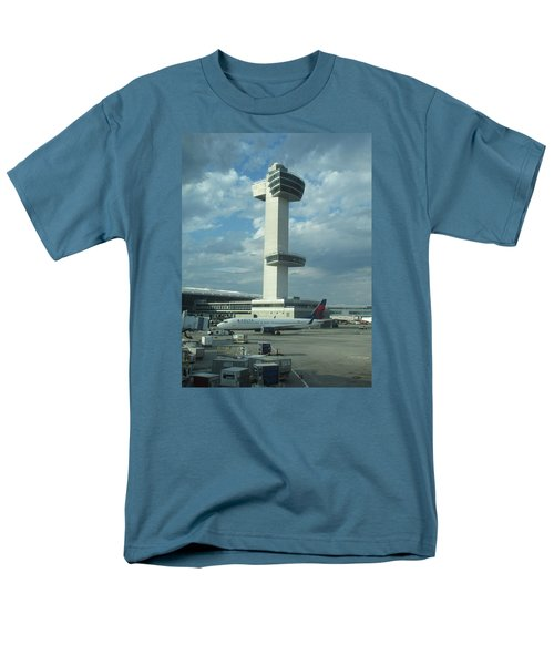 Kennedy Airport Control Tower Men's T-Shirt  (Regular Fit) by Christopher Kirby