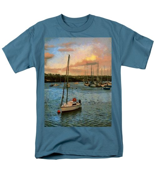 Men's T-Shirt  (Regular Fit) featuring the painting Kinsale Harbour Evening by Jeff Kolker